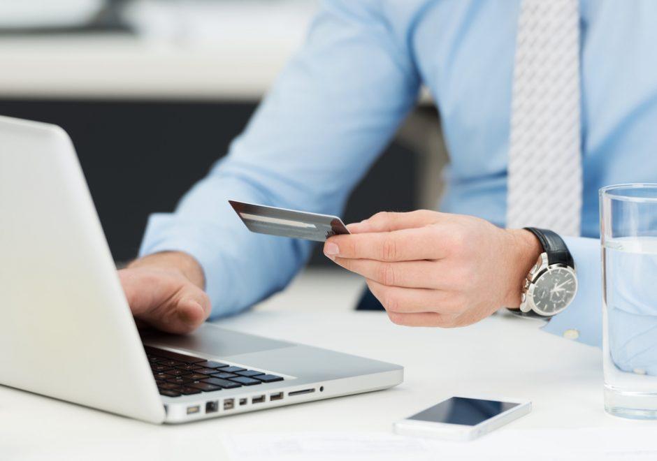 businessman doing online